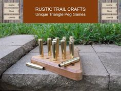 This 30-06 Bullet Peg Game would be a great gift for hunters, gun enthusiasts, or anyone who enjoys unique handmade gifts.