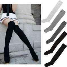 2018 Sale Clearance Girls Ladies Women Thigh High OVER the KNEE Socks Long Cotton Stockings Warm
