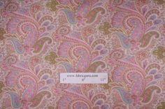 Premier Prints Paisley Drapery Fabric in Girly $7.48 per yard