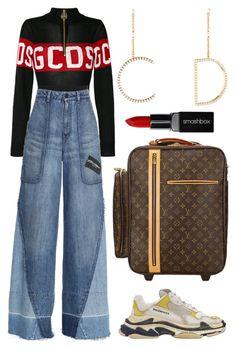 """Sans titre #1708"" by badgiirls ❤ liked on Polyvore featuring GCDS, Dolce&Gabbana, Balenciaga, Louis Vuitton, Christian Dior and Smashbox"