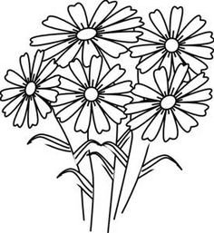 draw daisies Print This Page Spring Flowers Coloring Pages