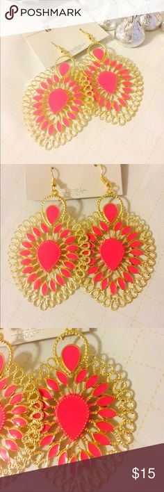 Pink plans  very pretty drop Earrings Classy and Rich statement earrings to wow! People around you. Maheroo Jewelry Earrings