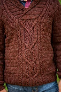Mountain House Pullover - Men's Sweater Knitting Pattern