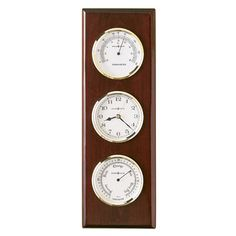 Howard Miller Weather and Maritime Shore Station Wall Clock & Reviews | Wayfair