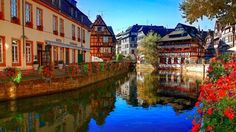 Strasbourg, France in the Alsace region.Our tips for places to visit in France… Wonderful Places, Great Places, Places To See, Beautiful Places, Places Around The World, Travel Around The World, Around The Worlds, Dream Vacations, Vacation Spots