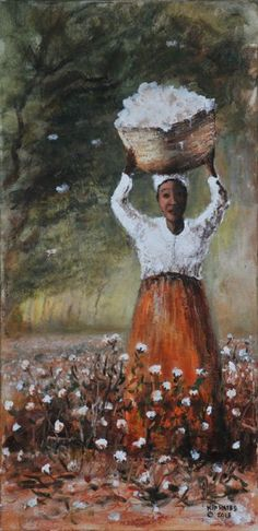 Vintage French Soul ~ New Orleans Cotton Picker- Larry Kip Hayes African American Art, African Art, American Artists, Black Art Pictures, Black Love Art, Black Artwork, Afro Art, Black Artists, Beautiful Artwork