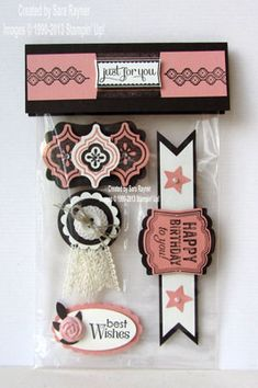 Mosaic Madness, Label Love, card candy - Stampin' Up!  Good for door prizes