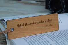 Personalizded Bookmark, Wood Bookmark, Gift for readers, Engraved gift, Custom bookmark, Engraved Bookmark, Gift for him, Gift for her by etoidesign on Etsy