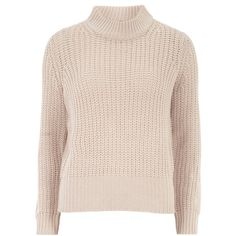 Dorothy Perkins Pink High Neck Jumper (35 BRL) ❤ liked on Polyvore featuring tops, sweaters, jumper, blush, jumper top, long sleeve sweater, pink jumper, long sleeve jumper and pale pink sweater