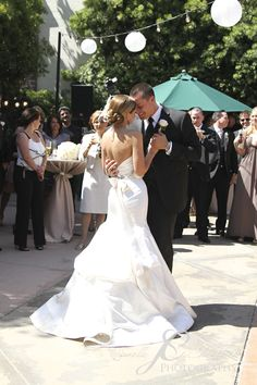 I absolutely love her dress.  First dance!