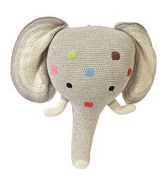 Tête d'éléphant en Crochet - Anne-Claire Petit - Cadeaux de naissance - The Conran Shop FR Une sélection de la rédaction de source-a-id.com.