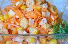 8 great ideas for delicious salads with corn. If you like corn, you are sure to find the right recipe for a delicious salad, which you will especially appreciate at these days for lunch or dinner after sweet Christmas treats. Easy Healthy Recipes, Easy Meals, Mayonnaise, Vegetable Salad, Christmas Treats, Kefir, Crockpot, Food And Drink, Lunch