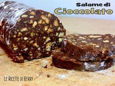 Salame di #cioccolato #vegan. #Ricetta senza latte e senza uova.