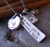 i love you to the moon and back necklace- cinnamon*sticks designs