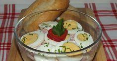 Sonkás tojássaláta Easter Recipes, Easter Food, Tasty, Yummy Food, Guacamole, Paleo, Pudding, Ethnic Recipes, Desserts