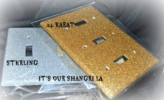 Glitter Outlet Covers  TRIPLE COVER Dazzle'em by ItsOurShangriLa