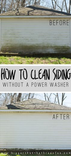 How To Clean Siding Without A Washer