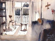 Michael Bennett Michael Bennett, Watercolor, Painting, Art, Pen And Wash, Art Background, Watercolor Painting, Painting Art, Kunst