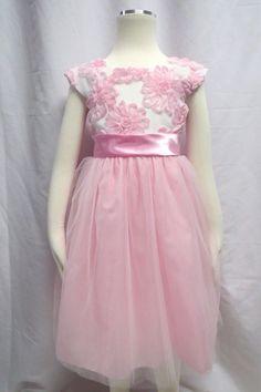 RARE EDITIONS Girl Pink Soutache Wedding Occasion Princess Easter Dress 4 5 6 6x
