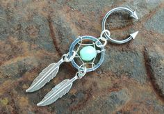 18 Gauge Hoop Neon Mint Green Dream Catcher Circular with Spikes Arrow Barbell Belly Button Jewelry Dangle Charm Cool Piercings, Piercing Ring, Piercing Tattoo, Body Piercing, Piercing Ideas, Cute Jewelry, Body Jewelry, Jewelry Accessories, Cartilage Earrings