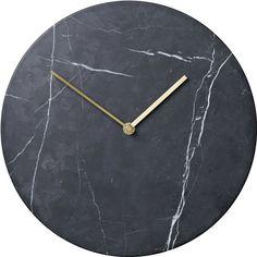 Marble Wall Clock, Black fra Menu – Køb online på Magasin.dk - Magasin Onlineshop - Køb dine varer og gaver online