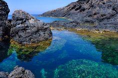 Isola di vulcano-piscina di venere,italy