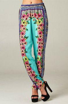 Biscayne Floral Print Resort Pants #Floralprint #Print #Resort #Pants #Floralpants