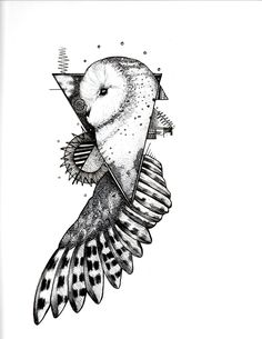 Ink Owl Tattoo Design by DrewBConyers