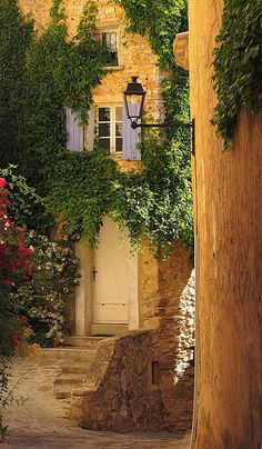 The picturesque village of Barroux, France