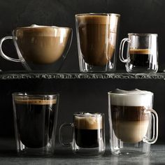 Double Wall Tall Coffee Mugs, Set of 4 #williamssonoma