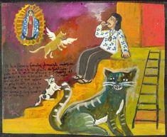Мой сын Рамиро курил очень много марихуаны. Я взмолилась Пресвятой Деве Гваделупской, чтобы он избавился от этой дурной привычки. И тогда ему привиделись летающие коты, которые пытались с ним заговорить. Это до смерти напугало его, так что он больше и не думает курить. А я благодарю за это чудо.