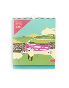 Joules FAMILYPLANNER Fantastic Family Wall Planner with stickers, Sheep. Keep track of your gang. From rugby practice to parent�s evening (and even dinner with the in-laws!) never miss a thing.#jouleswishlist