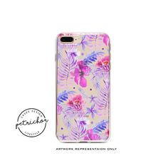 Purple Floral iPhone Case - iPhone 7 Case - iPhone 7 Plus Case - iPhone 6 Case - iPhone 8 Case - iPhone X Case - iPhone 8 Plus Case - Clear by PetrichorCases on Etsy Floral Iphone Case, Iphone 7 Cases, Iphone 6, Iphone 8 Plus, Purple, Etsy, Viola