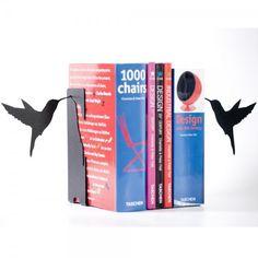 Serre-livres oiseaux  http://www.homelisty.com/31-serre-livres-originaux-a-decouvrir/