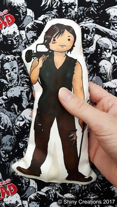 Daryl Dixon- The Walking Dead inspired cartoon, cuddly, fabric, doll, plushie, plush, collectible, TV show, comic book, character - £9.00