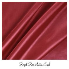 #www.luxeeventlinen.com Regal Red Satin Sash Linen