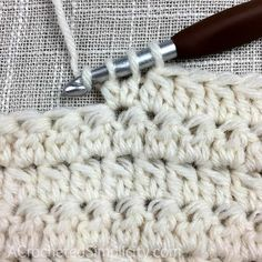 Learn to Crochet the 2 Double Crochet Cluster Stitch - Crochet Tutorial by A Crocheted Simplicity Crochet Stitches Free, Crochet Basics, Free Crochet, Knit Crochet, Sewing Patterns, Crochet Patterns, Blanket Patterns, Crochet Ideas, Crochet Projects