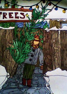 §§§ : Boy at Christmas Tree Lot : Acacius
