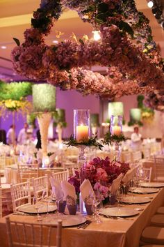 Taylor'd Events » engage! 2013 Montelucia recap - suspended foral decor