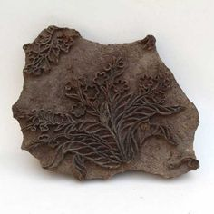 Antique hand-carved block printing stamp offered by indiancollectibleart on Etsy.