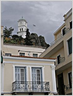 Poros Greece, Old Greek, Neoclassical Architecture, Greek Islands, Old Photos, My Dream, Beautiful Places, Explore, Mansions