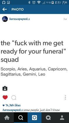 It makes sense that they put Scorpio first because those people are impossible to defeat