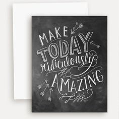 Make Today Amazing - A2 Note Card #Friendship #Gifts #Note-Cards