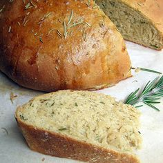 Rosemary Olive Oil Bread - instead of using the egg wash, use oil brushed or spritz on.