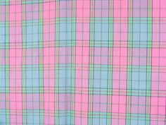 Plaid shirting fabric in pink periwinkle lavender by acafterglow, $15.00