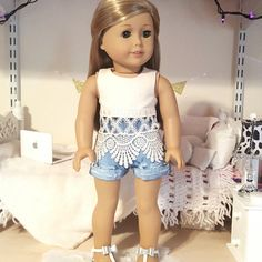 18 inch doll lace crop top by SewCuteForever on Etsy
