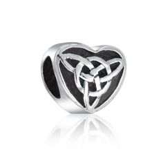$14.99 The Celtic Triquetra symbol is amongst the most recognizable in Celtic designs, and this Celtic knot bead features the Triquetra symbol. Representing the triple threat of power, intellect and love, this Triquetra Celtic knot bead is the perfect gift for anyone special this Valentines Day as it is a Celtic heart charm. Embrace the meaning behind Celtic beads and wear this knot charm bead proudly. Crafted from top quality .925 sterling silver...