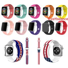 New iwatch #bands sports silicone bracelet strap band for #apple watch #38mm/42mm, View more on the LINK: http://www.zeppy.io/product/gb/2/301916917406/