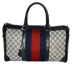 Gucci Vintage Travel Classic Brown Monogram Travel Bag