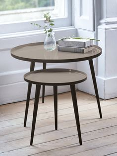 Lina Side Tables - Grey